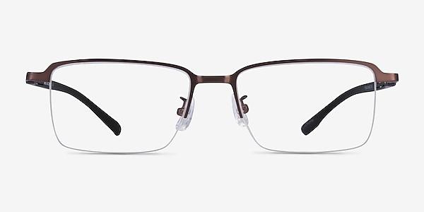 Nine Coffee Black Metal Eyeglass Frames