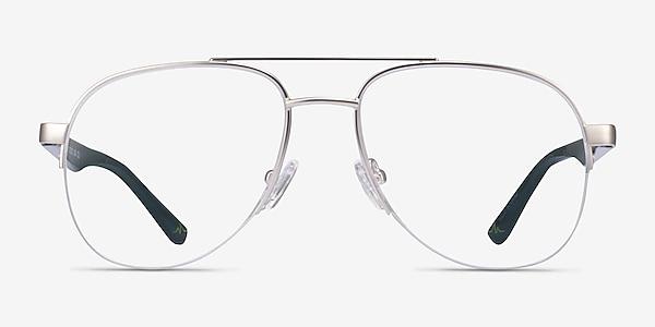 Hydroflux Silver Metal Eyeglass Frames
