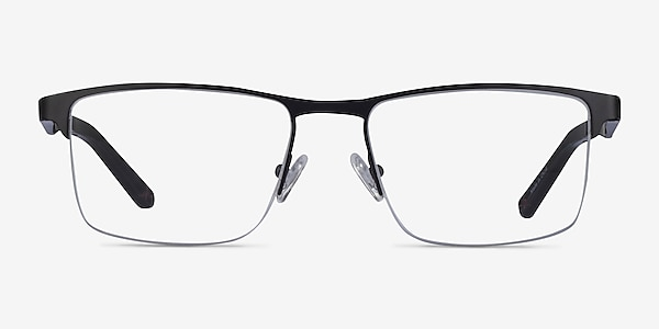 Kinetic Matte Black Metal Eyeglass Frames