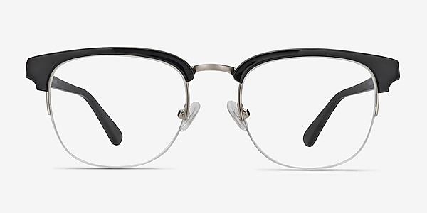 Genbu  Black  Acetate-metal Eyeglass Frames