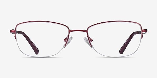 Poly Matte Red Titanium Eyeglass Frames