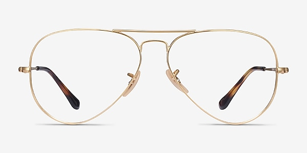 Ray-Ban RB6489 Gold Metal Eyeglass Frames