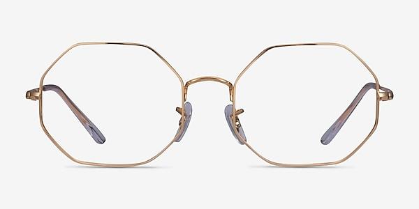 Ray-Ban Octagon Gold Metal Eyeglass Frames