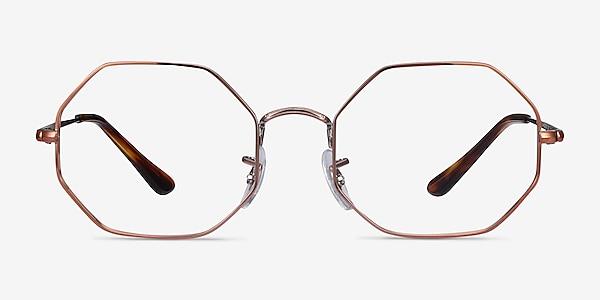 Ray-Ban Octagon Bronze Metal Eyeglass Frames