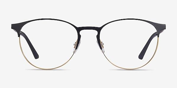 Ray-Ban RB6375 Black Gold Metal Eyeglass Frames