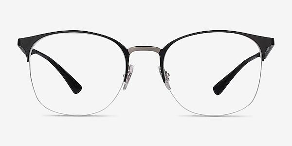 Ray-Ban RB6422 Black Silver Metal Eyeglass Frames