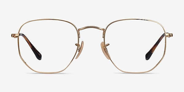 Ray-Ban RB6448 Gold Metal Eyeglass Frames