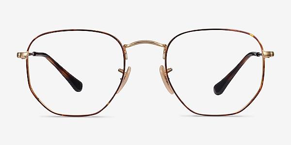 Ray-Ban RB6448 Tortoise Gold Metal Eyeglass Frames