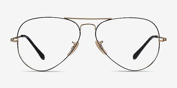 Ray-Ban RB6489 Black Gold Metal Eyeglass Frames
