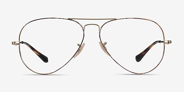 Ray-Ban RB6489 Tortoise Gold Metal Eyeglass Frames