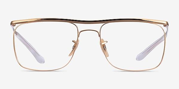 Ray-Ban RB6519 Gold Metal Eyeglass Frames