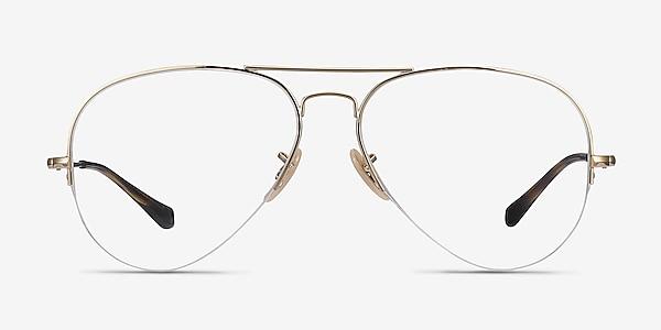 Ray-Ban RB6589 Gold Metal Eyeglass Frames