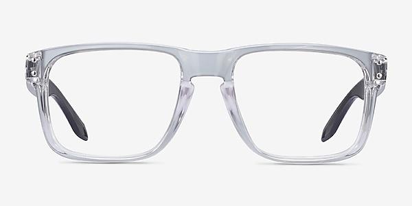 Oakley Holbrook Rx Polished Clear & Gray Plastic Eyeglass Frames