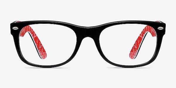 Ray-Ban RB5184 Black & Red Acetate Eyeglass Frames