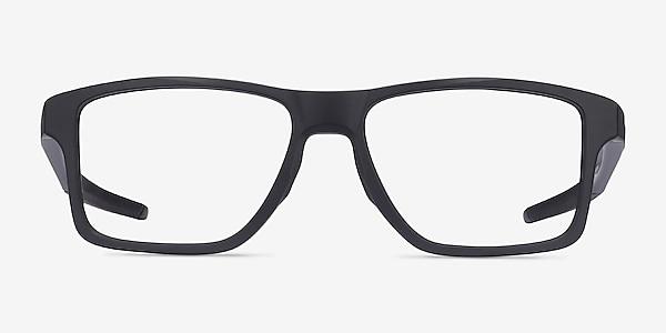 Oakley Chamfer Squared Satin Black Plastic Eyeglass Frames