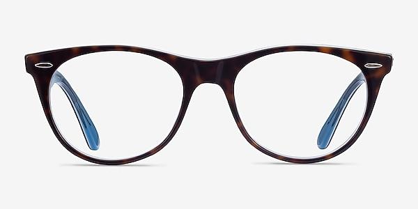 Ray-Ban RB2185V Tortoise Blue Acetate Eyeglass Frames