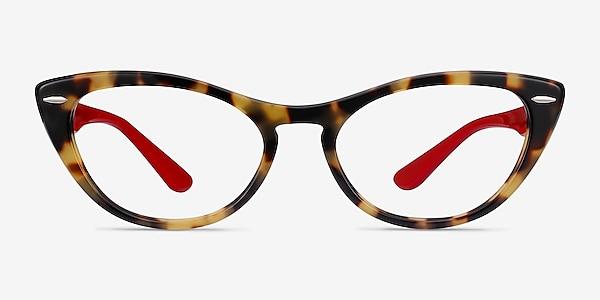 Ray-Ban Nina Tortoise Red Acetate Eyeglass Frames