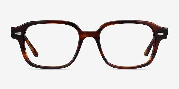Ray-Ban RB5382 Striped Havana Acetate Eyeglass Frames