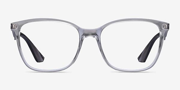 Ray-Ban RB7066 Clear Gray Plastic Eyeglass Frames