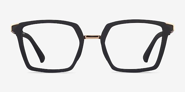 Oakley Sideswept Rx Black & Gold Metal Eyeglass Frames