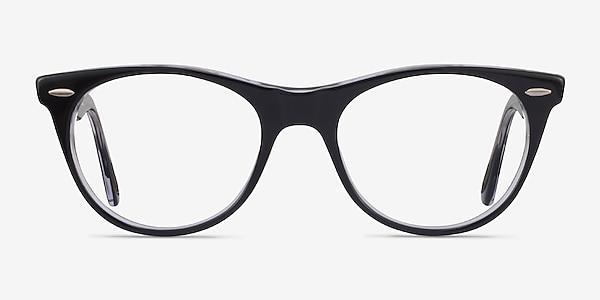 Ray-Ban RB2185V Black Clear Acetate Eyeglass Frames