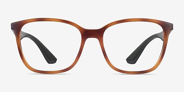 Ray-Ban RB7066 Tortoise & Green Plastic Eyeglass Frames
