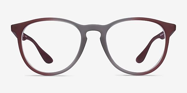 Ray-Ban RB7046 Gray Red Plastic Eyeglass Frames