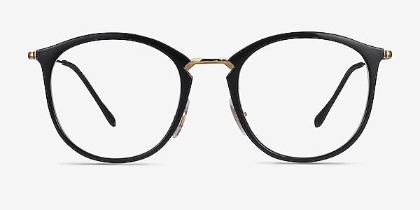 Ray-Ban RB7140 Black Gold Plastic-metal Eyeglass Frames