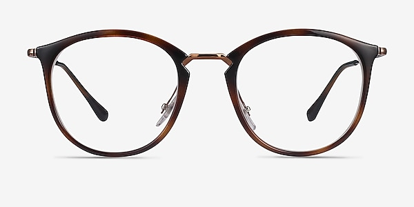 Ray-Ban RB7140 Tortoise Bronze Plastic-metal Eyeglass Frames