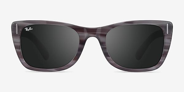 Ray-Ban Caribbean Striped Gray Acetate Sunglass Frames