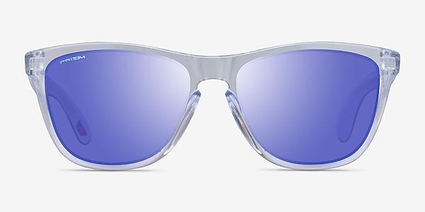 Oakley Frogskins Polished Clear Plastic Sunglass Frames