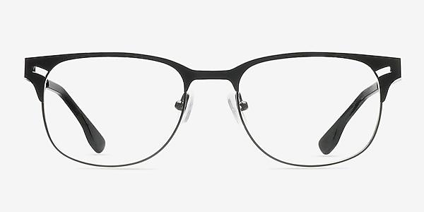 Merrion Black Metal Eyeglass Frames