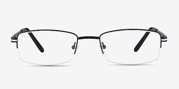 Brian Black Metal Eyeglass Frames