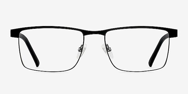Time Square Black Metal Eyeglass Frames