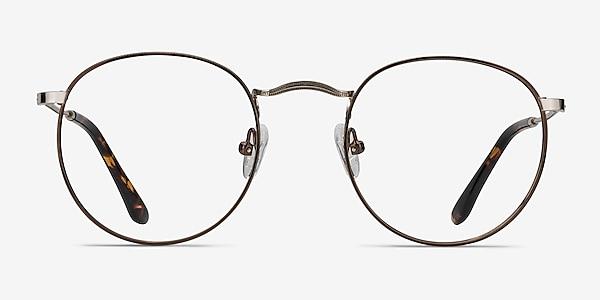Daydream Brown Golden Metal Eyeglass Frames