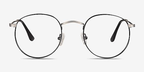 Daydream Black Silver Métal Montures de lunettes de vue