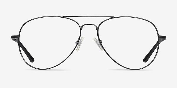 Nantes Black Metal Eyeglass Frames