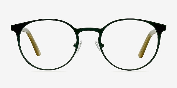 Outline Black Steel/Acetate Acetate-metal Eyeglass Frames