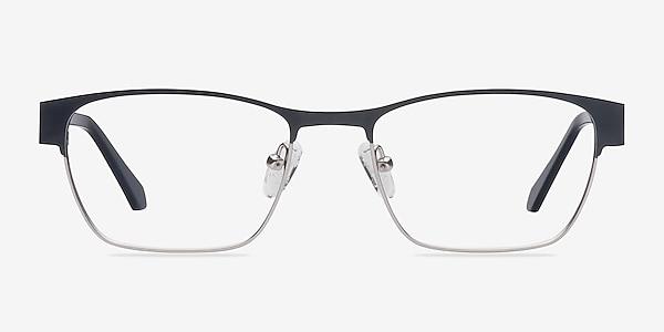 Admire Black Silver Métal Montures de lunettes de vue