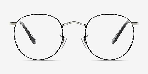 Daydream Black Silver Metal Eyeglass Frames