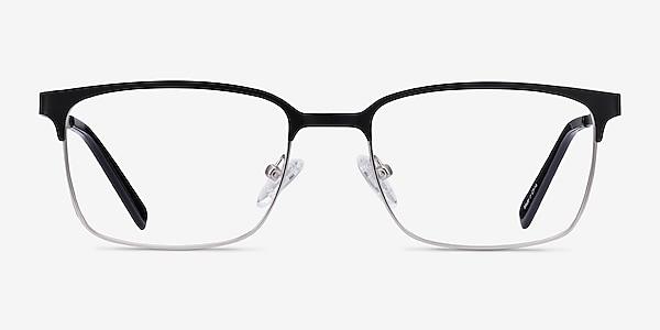 Manchester Black Silver Métal Montures de lunettes de vue