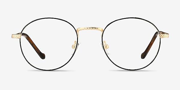 Mingus Black Golden Metal Eyeglass Frames