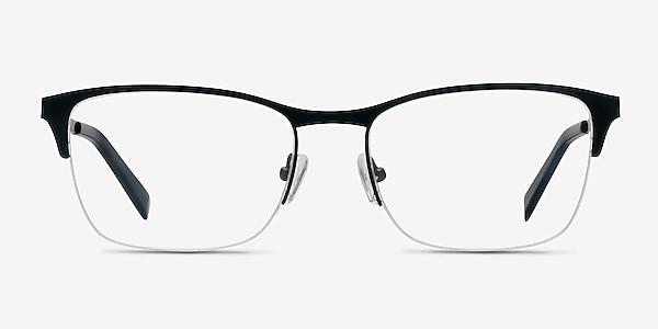 Time Black Metal Eyeglass Frames