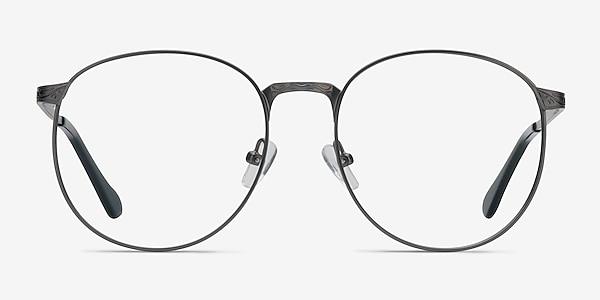 Lotus Gunmetal Metal Eyeglass Frames