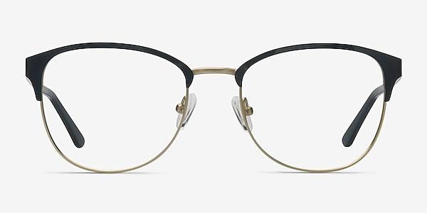 The Moon Black Golden Metal Eyeglass Frames