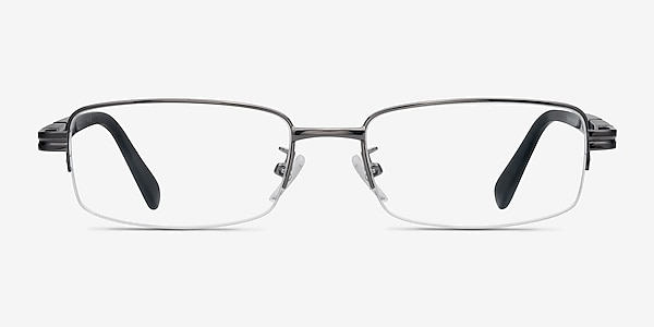 Above Gunmetal Metal Eyeglass Frames