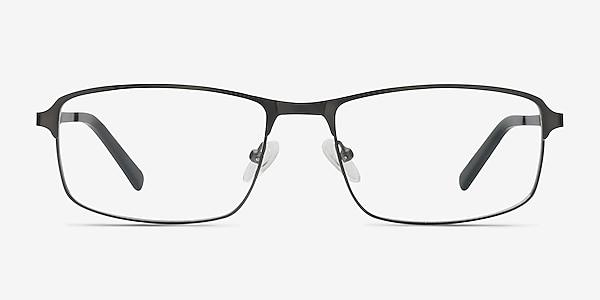 Capacious Matte Gunmetal Metal Eyeglass Frames