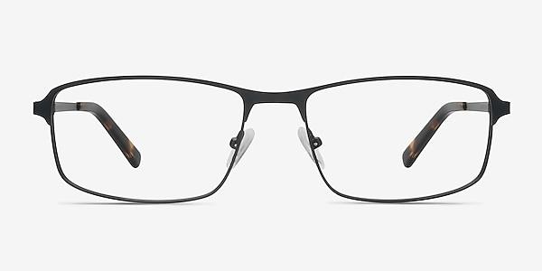 Capacious Black Metal Eyeglass Frames