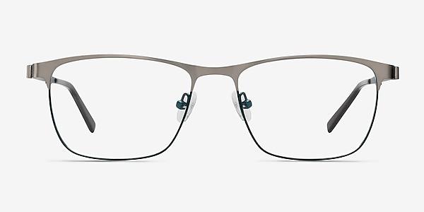 Pinion Gunmetal Metal Eyeglass Frames