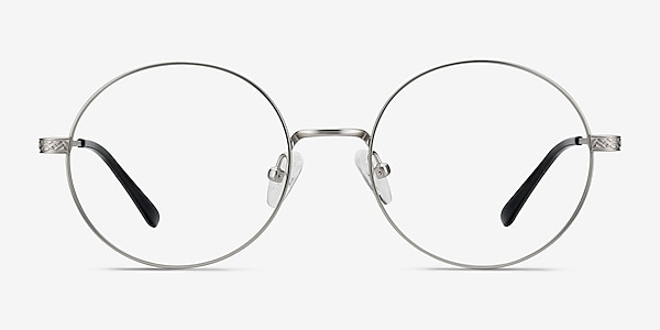 Inscription Silver Metal Eyeglass Frames